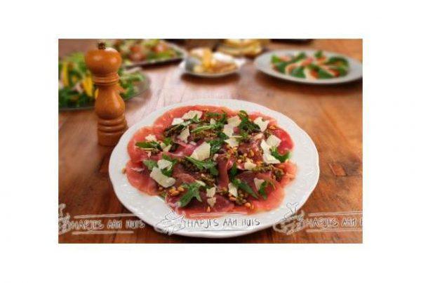 Carpaccio salade als hapje
