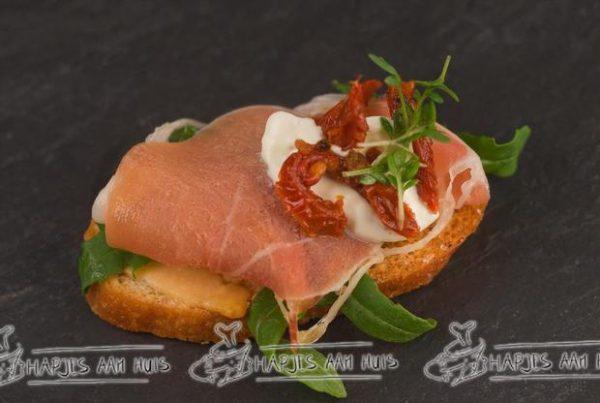 Crostini en mini sandwich hapjes